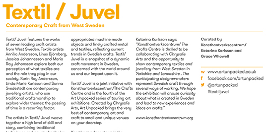 Textil / Juvel: Contemporary Craft From West Sweden: MNCL Folly